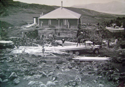 Construction of the two storey addition in the 1950s