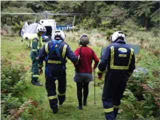 Injured tramper helicopter rescue